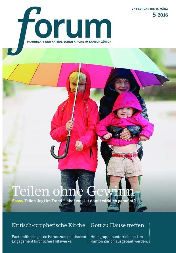 Forum Pfarrblatt Ausgabe 05/2016