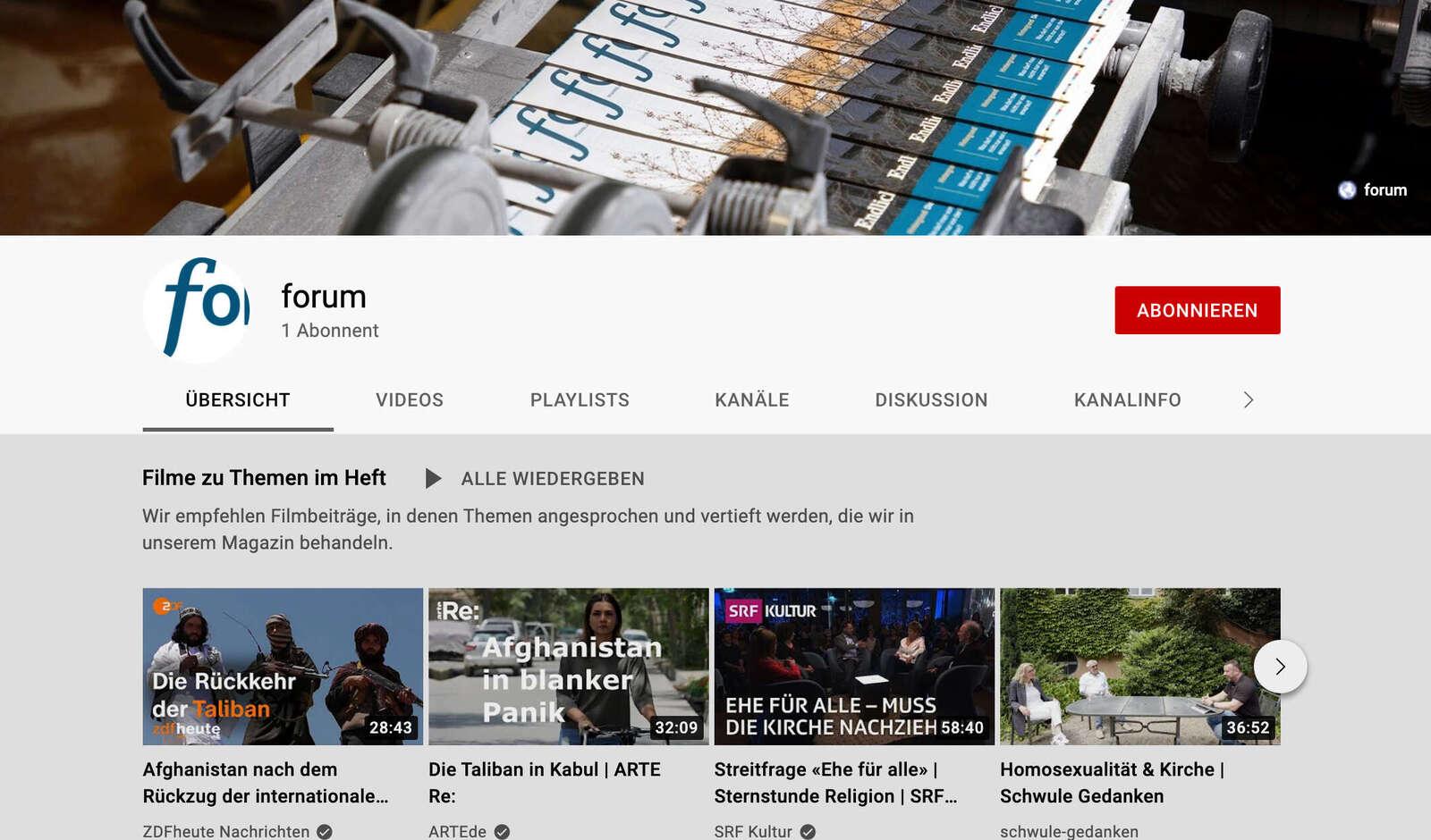 forum zum Weiterschauen