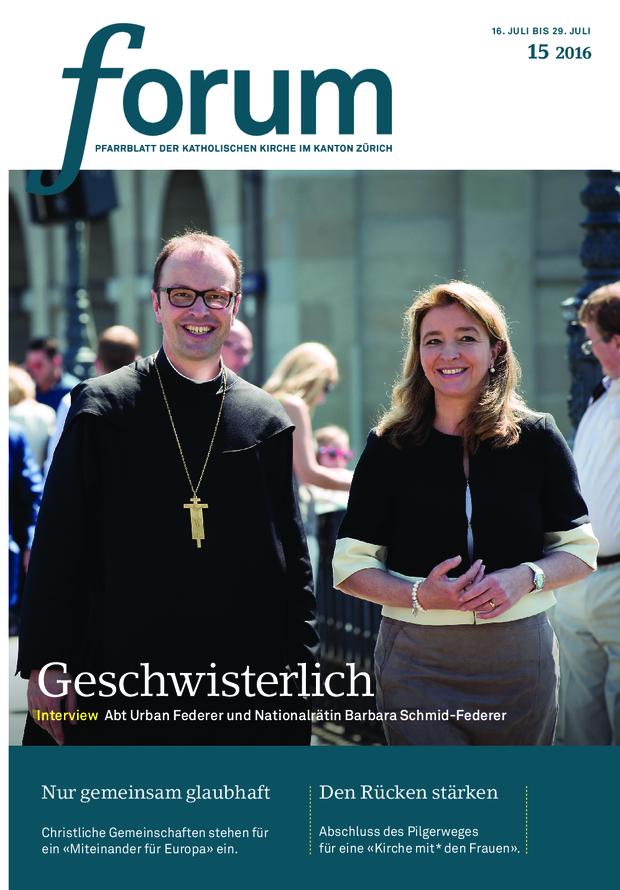 Forum Pfarrblatt Ausgabe 15/2016