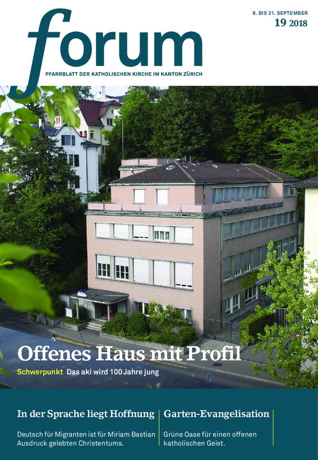 Forum Pfarrblatt Ausgabe 19/2018